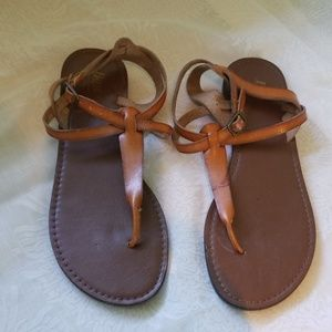 Bass Brown Leather Sandals Size 7